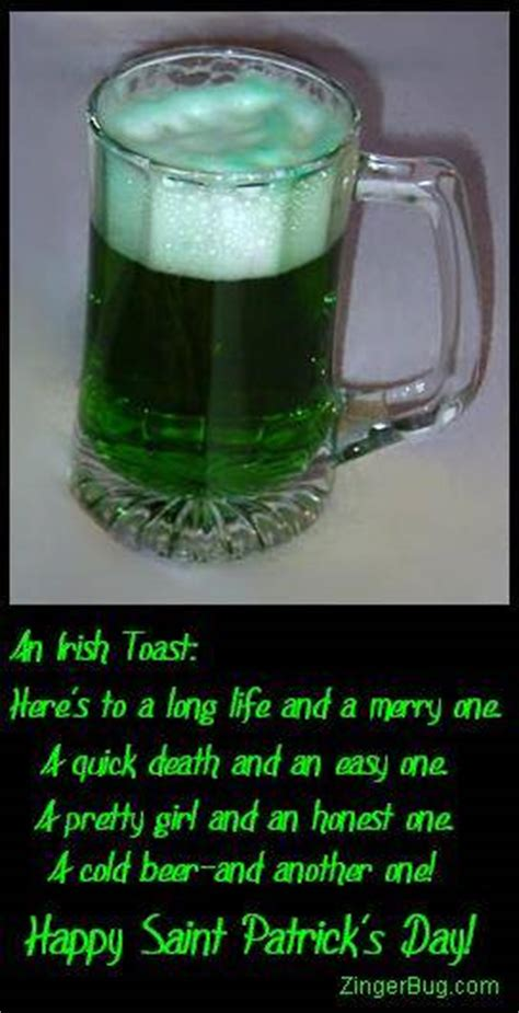 Irish Toast Green Beer Glitter Graphic, Greeting, Comment