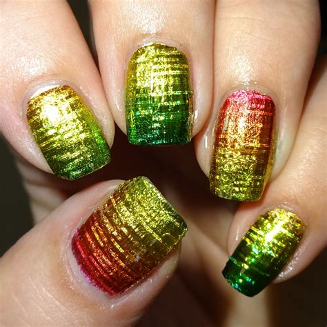 Wendy's Delights: Citrus Laser Nail Foil from Sparkly Nails