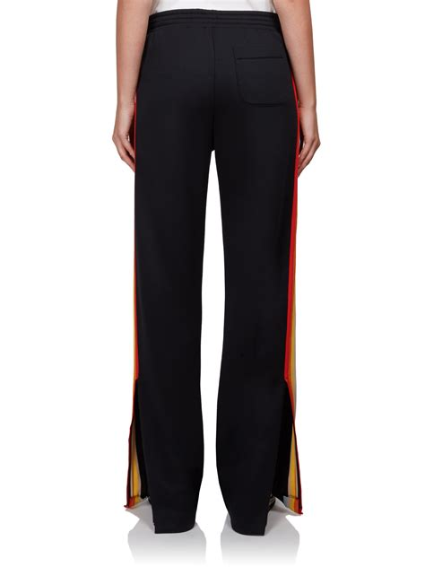 Chloé Synthetic Rainbow-stripe Track Pants in Black - Lyst