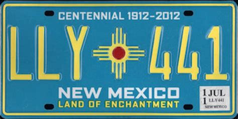 The Official New Mexico State License Plate - The US50