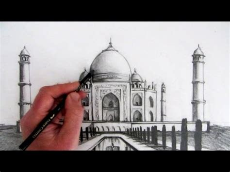 How to Draw the Taj Mahal: Narrated Step by Step - YouTube