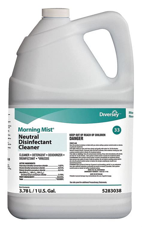 DIVERSEY Disinfectant Cleaner, 1 gal Cleaner Container