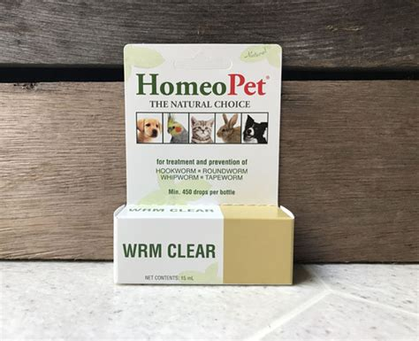 HomeoPet Wrm Clear All Natural Worm Treatment ~ Toby's
