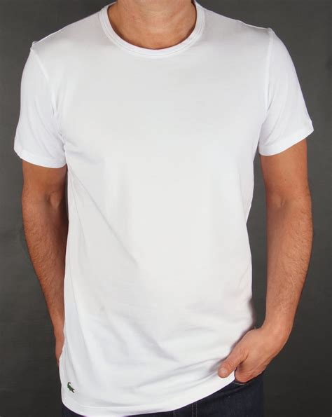 Lacoste Twin Pack T Shirts, white,2, crew,tee,loungewear,mens