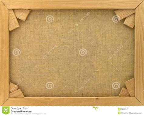 Back Of Canvas In Wooden Frame Stock Image - Image of