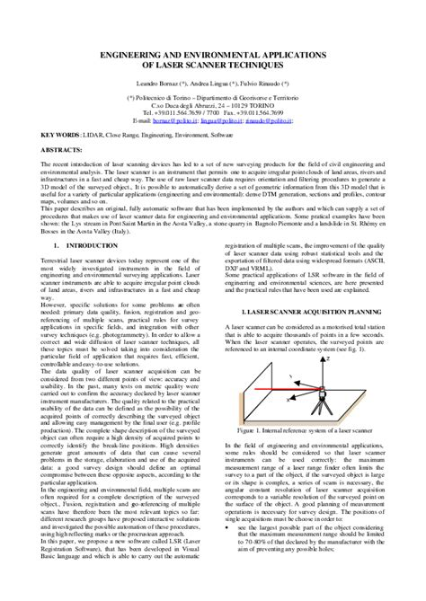 (PDF) Engineering and environmental applications of laser