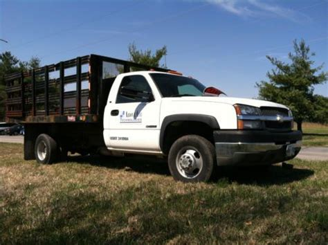 Purchase used 2003 Chevrolet 3500 Stake Body Dump Truck
