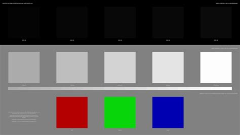 Real UHD HDR 10 Combination Test Pattern, luminance levels
