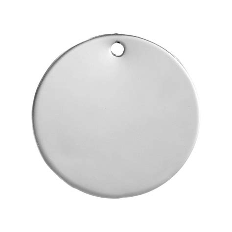 10 Stainless Steel Round Stamping Blanks with Hole 30mm