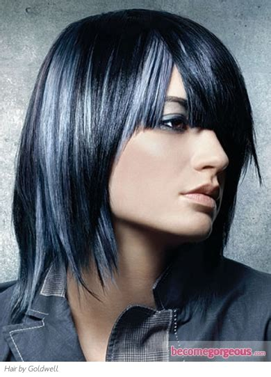 Blue Hair Highlights   Makeup Tips and Fashion