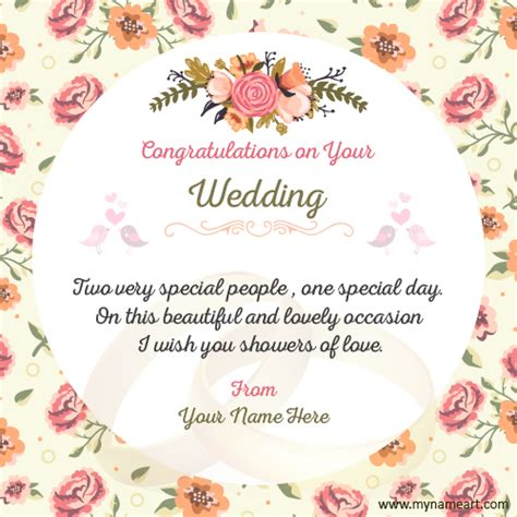 Make Wedding Congratulations Wishes Quotes Card | wishes