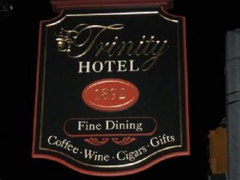 Menu - Picture of The Trinity Hotel Restaurant, Carlsbad