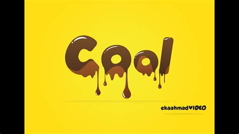 Melted Chocolate Text with Illustrator - YouTube