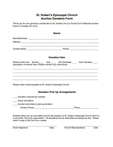 FREE 15+ Church Donation Form Examples & Templates