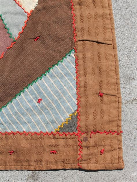 Antique Quilt, Contained 19th Century Crazy Quilt from