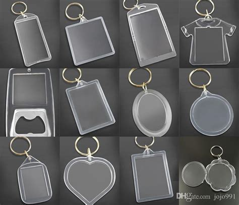 Round Acrylic Keychains Blank Clear Keyrings Your Own