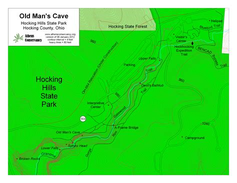 Athens Area Outdoor Recreation Guide: Hocking Hills State Park