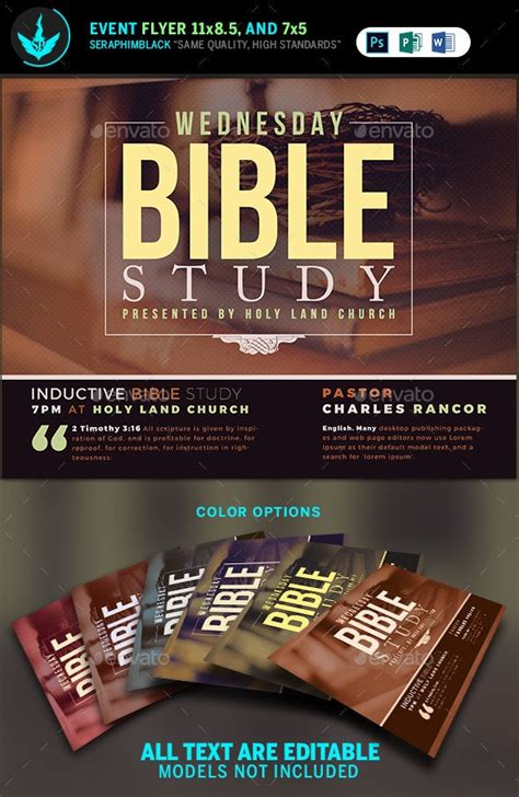 Bible Study Church Flyer Template by SeraphimBlack