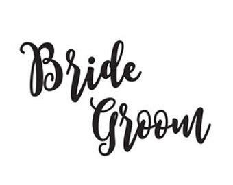 bride groom svg dxf file instant download silhouette cameo