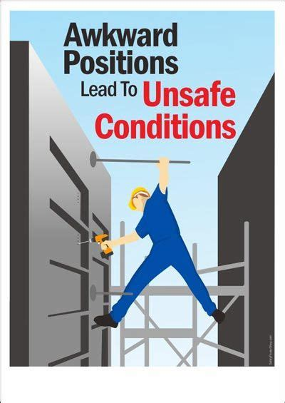 Awkward Positions Lead To Unsafe Conditions | Safety