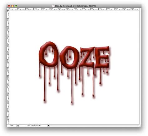 Photoshop Tutorial: Dripping Blood Text Effect