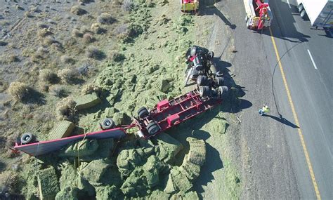 NHP uses drone to document fatal crash of hay truck